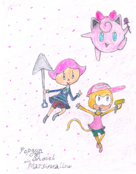 Popgun and Shovel with Marshmallow by MkayRose26
