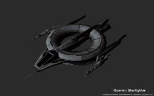 Quarian Starfighter 3ds Max 10 Model by Euderion