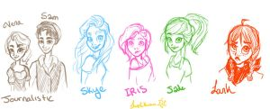 Sketches for awesome peole by fluffyfuzzball