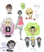 Homestuck Sketchdump by blindleap