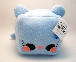 Kitty Ice Cube Plush by quacked