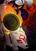 Okami Amaterasu by ColacatintheHat