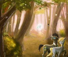 Doctor and Derpy- Fairy Forest v2 by Sweet-Unknown