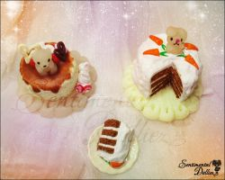 Sweet Miniature Cakes by SentimentalDolliez