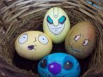 colored eggs by kenjiro34