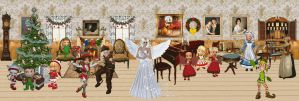 The Christmas Room Wallpaper by terrya7