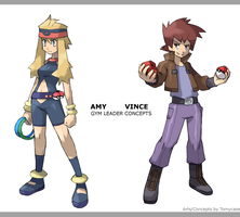 Gym Leaders concepts by Tomycase