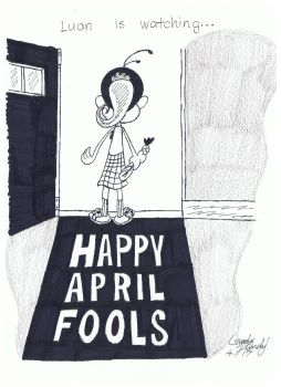 April Fools Poster Featuring Luan by CandyRandy7D