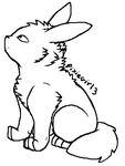 Umbreon Lineart - Free to use! by PixieGirl3