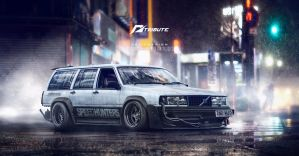Speedhunters Volvo 940 Need for speed Tribute  by yasiddesign