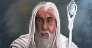 Gandalf portrait by Sympho