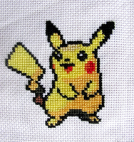 025 - Pikachu ~cross stitch~ by snowyMelon