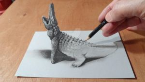 Crocodile 3D by VamosArt