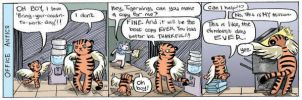 Tigerwings: office in color by Megalosaurus