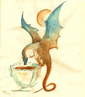 tea dragon by Unita-N