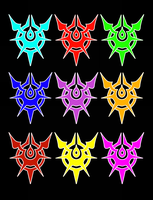 Conception II: Children of the Seven Stars Emblems by lightning-in-my-hand