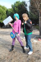 Ramona Flowers y Scott Pilgrim by HaruDesu88