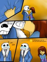 Sans X Frisk by Keipup