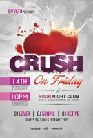 Crush Party Flyer Template by Dilanr