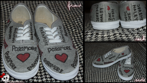 Paramore Shoes by SkeletonHorror