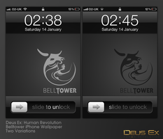 Deus Ex Human Revolution Belltower iOS Wallpaper by Titch-IX