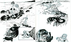 2 pages from THE COMA by javierhernandez