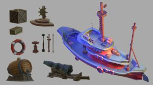 Ship and items by denitzza