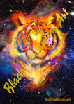 poster motif:. Galaxy tiger by BlackLightning95