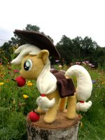 Applejack plushie by PikselForest