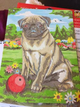 pug painting by numbers by loxanna
