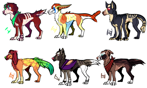 #adopt batch canine 4/6  100pts / 1$ open! by n20x1d3