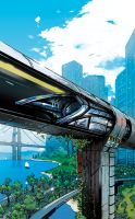 Popular Mechanics Hyperloop Illustration by EricScottPfeiffer