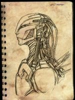 Sketch : Cyborg by Laitiel