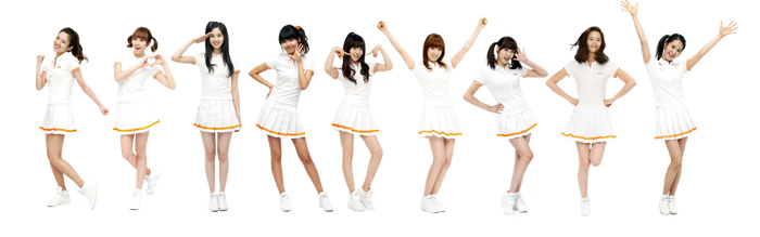 SNSD Hahaha render by dyloveskpop