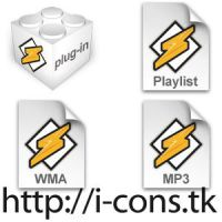 Winamp Files Icons by mmr85