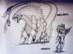 the monsters of GODZILLA: Destroyer of Worlds by artisticallyautistic