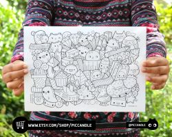 Doodle Coloring Page by PicCandle