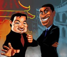 Rush Hour Caricature by Sopeh