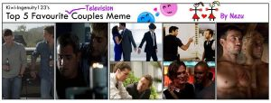 Top 5 favorite couples in TV by nezukuro