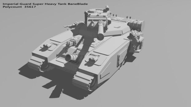 BaneBlade Super Heavy Tank by Marcjs