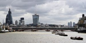 Canary Wharf in the distance by George---Kirk