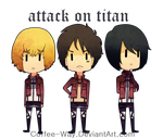chibi Shingeki no Kyojin by Coffee-Way
