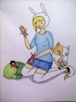 Fionna with her dolls by The-Human-Girl