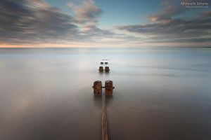 Alnmouth Groyne by jamesholephoto