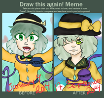 Before and AFter meme! [Koishi Komeiji] by Capitan-Estelar