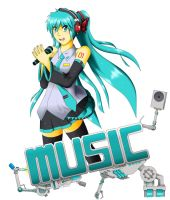 Miku Music M:M by BurntGreenTea