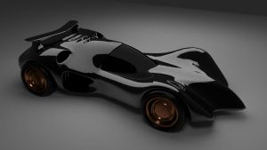 Batmobile Classic racer style by chaitanyak