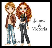 james and victoria by Evskji