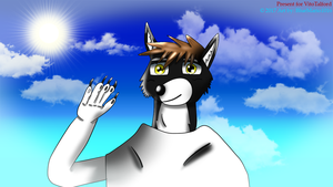 Salutation from a friendly wolf by BlueMario1016
