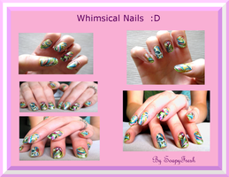 Nail Art - Whimsical Design by SoapyFresh